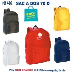 SAC A DOS 70 D REF 416 416 SAC A DOS 2,91 €