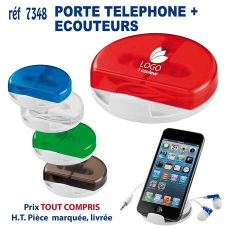 PORTE TELEPHONE + ECOUTEURS REF 7348 7348 Support téléphone 1,67 €