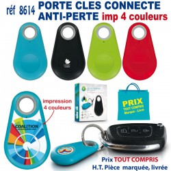 PORTE CLES CONNECTE ANTI PERTE 4 COULEURS REF 8614-4C 8614-4C OBJETS CONNECTES 4,13 €