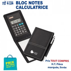 BLOC NOTES CALCULATRICE REF 4104 4104 bloc notes - bloc mémos 3,52 €