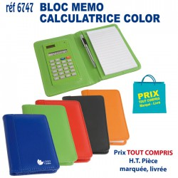 BLOC MEMO CALCULATRICE COLOR REF 6747 6747 bloc notes - bloc mémos 3,01 €