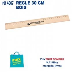 REGLE BOIS 30 CM REF 4007 4007 Règles publicitaires 0,67 €