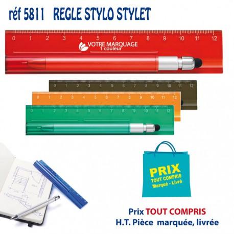 REGLE STYLO STYLET REF 5811 5811 Règles publicitaires 0,61 €