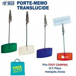 PORTE MEMO TRANSLUCIDE REF 9659 9659 bloc notes - bloc mémos 0,64 €