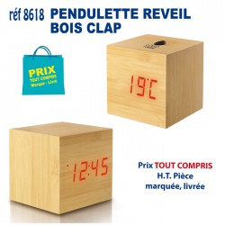 PENDULETTE REVEIL BOIS CLAP REF 8618 8618 Pendulette 10,67 €