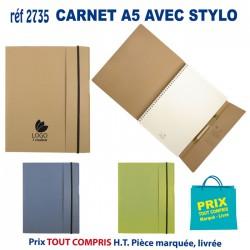 CARNET A5 AVEC STYLO REF 2735