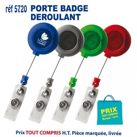 PORTE BADGE DEROULANT REF Lacet Tour De Cou Cadeau Et - Porte badge tour de cou