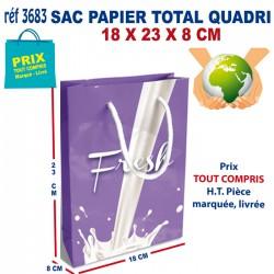 SAC PAPIER TOTAL QUADRI 18 X 23 X 8 CM REF 3683