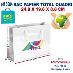 SAC PAPIER TOTAL QUADRI 24.8 X 19.8 X 8.8 CM REF 3684 3684 SACS PAPIER 0,70 €