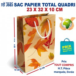 SAC PAPIER TOTAL QUADRI 23 X 32 X 10 CM REF 3685 3685 SACS PAPIER 0,80 €
