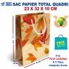 SAC PAPIER TOTAL QUADRI 23 X 32 X 10 CM REF 3685 3685 SACS PAPIER 0,76 €