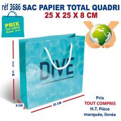 SAC PAPIER TOTAL QUADRI 25 X 25 X 8 CM REF 3686 3686 SACS PAPIER 0,80 €
