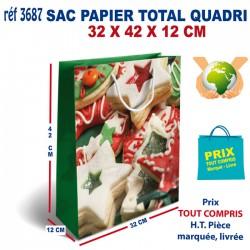 SAC PAPIER TOTAL QUADRI 32 X 42 X 12 CM REF 3687