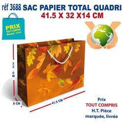SAC PAPIER TOTAL QUADRI 41.5 X 32 X 14 CM REF 3688