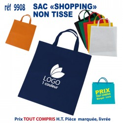 SAC SHOPPING ANSES COURTES REF 9908 9908 SACS SHOPPING - TOTEBAG 0,93 €